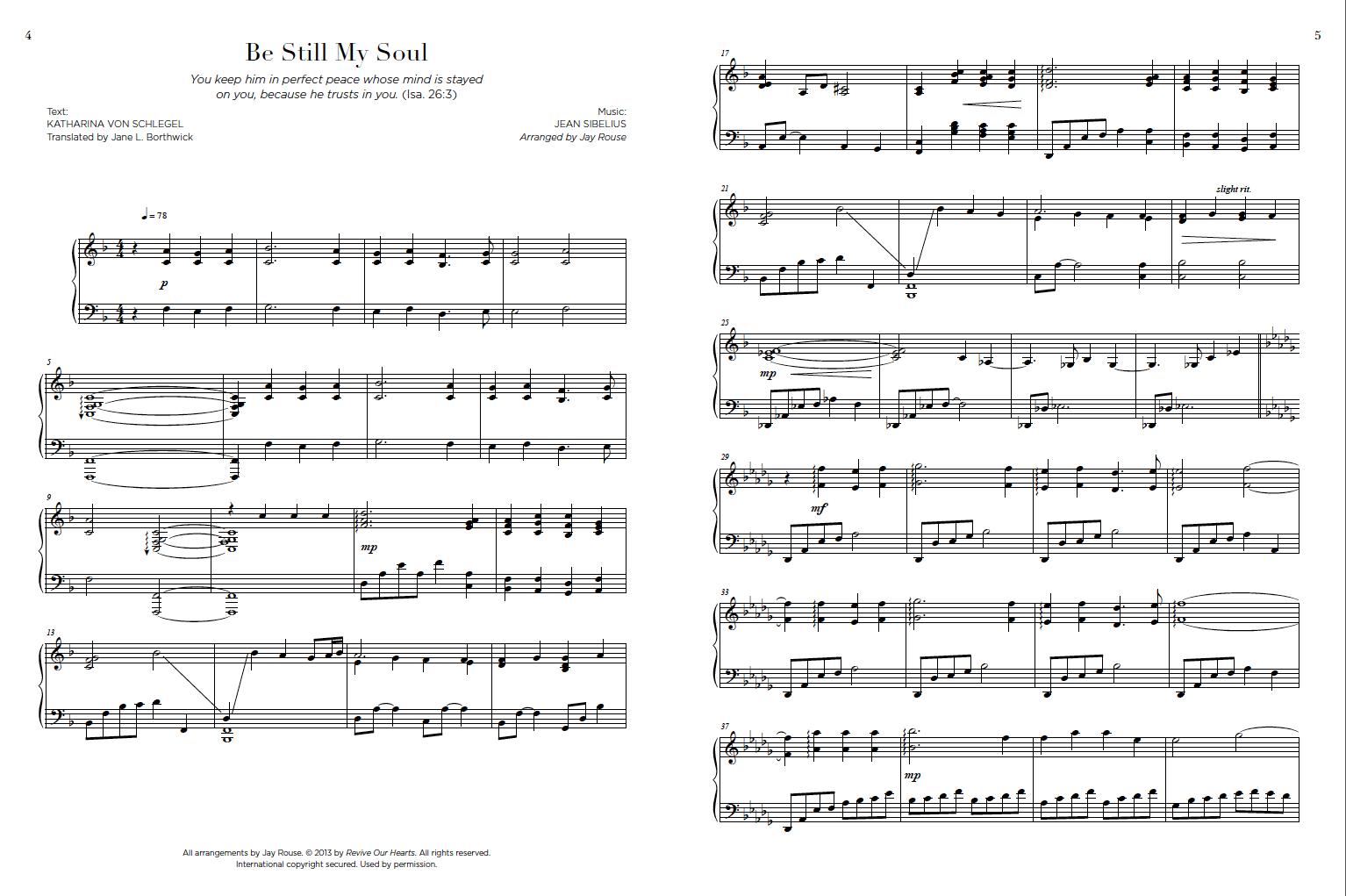 Be Still Songbook Sample